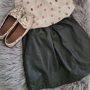 Babaton vegan leather skirt. Black. Large.